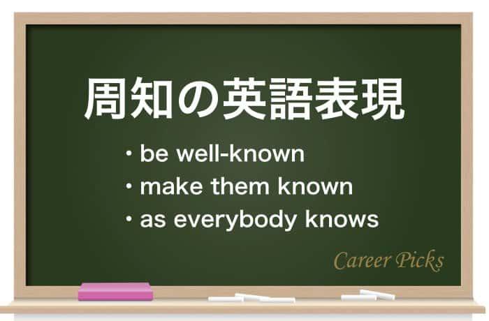 周知の英語表現