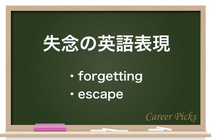 失念の英語表現
