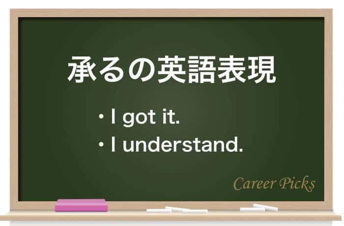 承るの英語表現