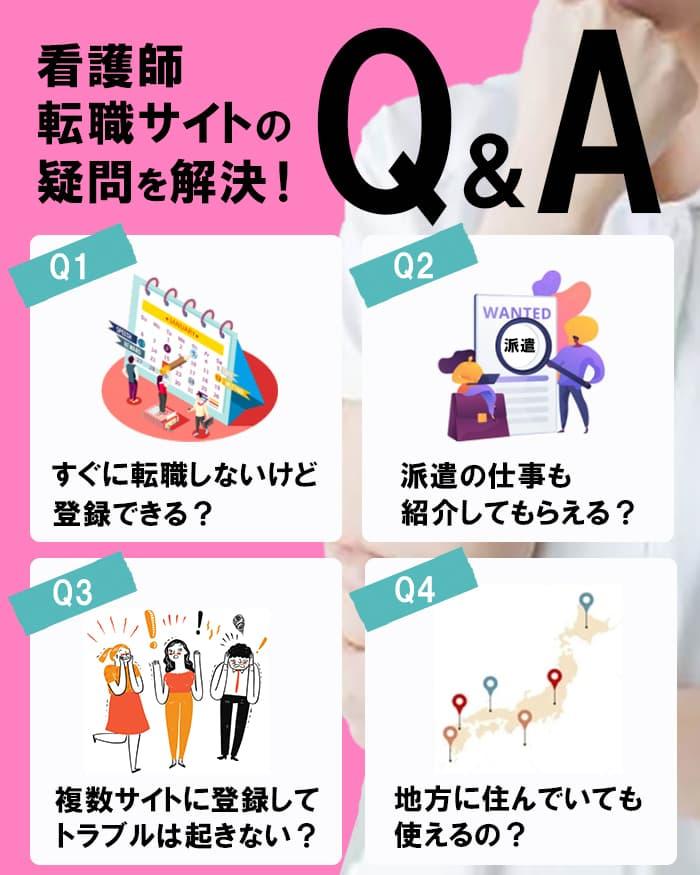 【Q&A】看護師転職サイトのデメリットなどを解決!