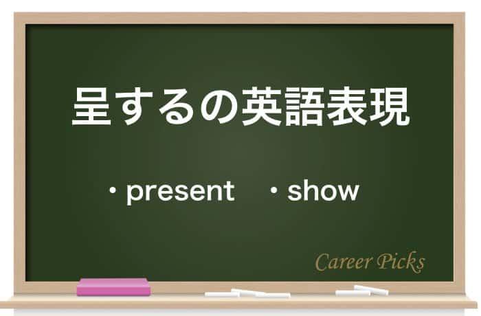 呈するの英語表現