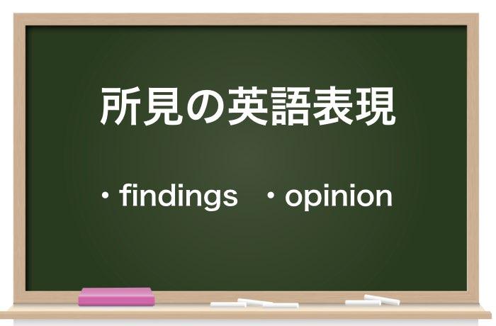 所見の英語表現