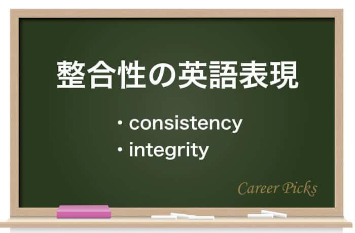 整合性の英語表現