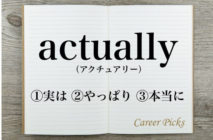 actuallyの意味とは