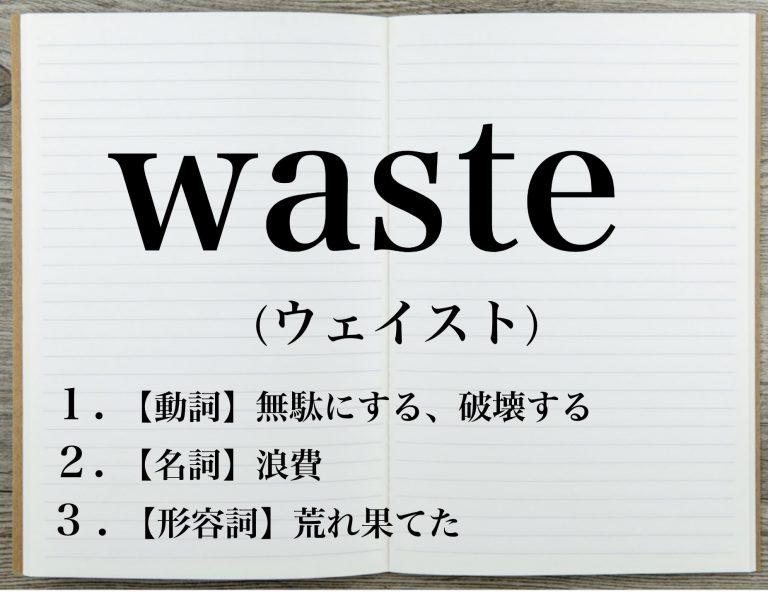 wasteの意味とは