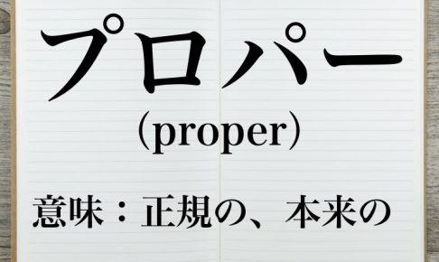 プロパーの意味とは