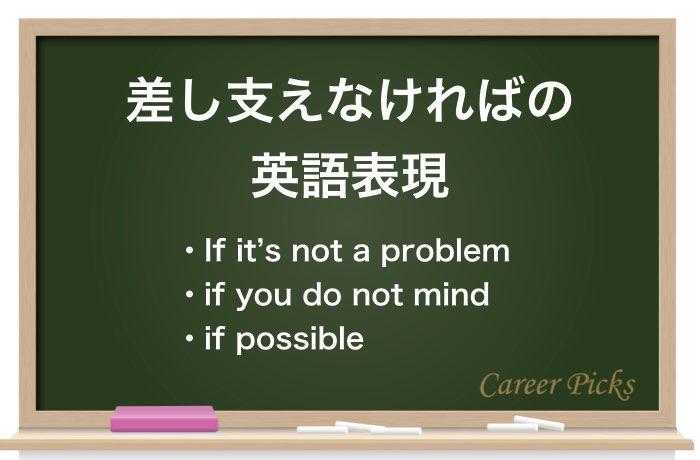 差し支えなければの英語表現