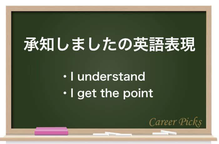 承知しましたの英語表現