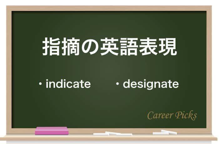 指摘の英語表現