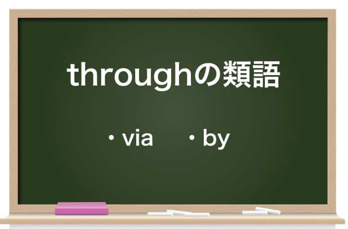 throughの類語
