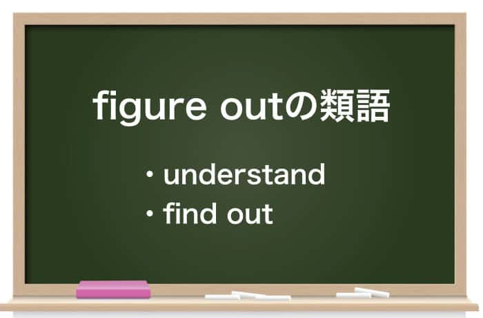 figure outの類語