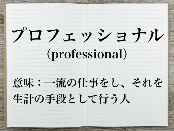 プロフェッショナルの意味とは