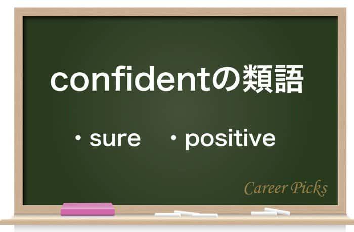 confidentの類語