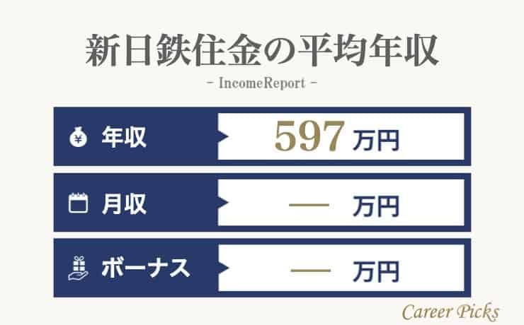 新日鉄住金の平均年収
