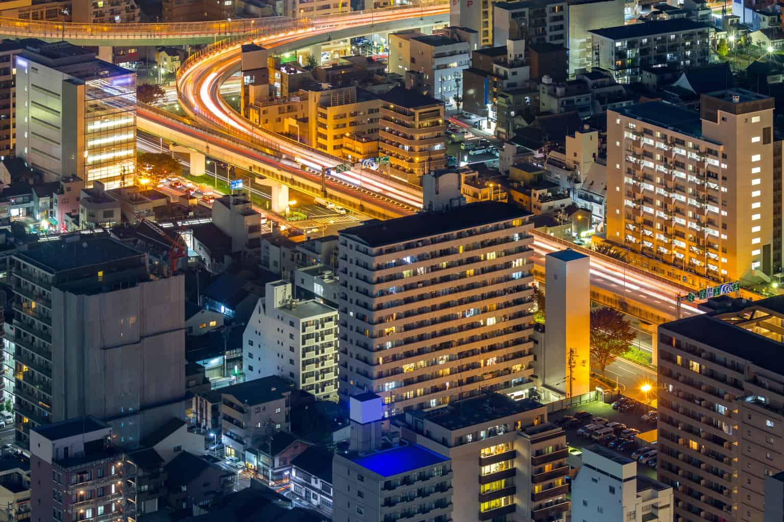 名古屋の航空写真