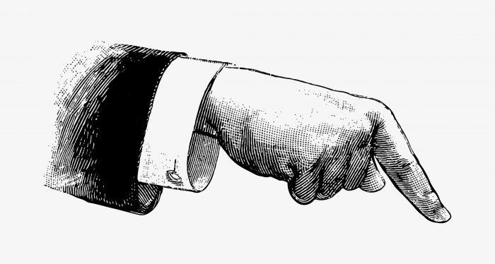 未経験からWeb系に転職するコツを教える男性の手