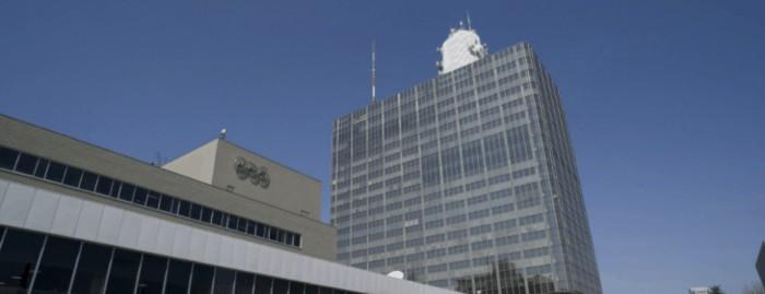 NHK事業所の外観写真