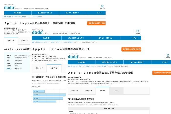 アップルジャパンのdoda