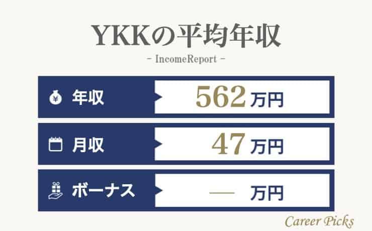 YKKの平均年収