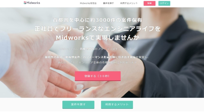 Midworksトップ
