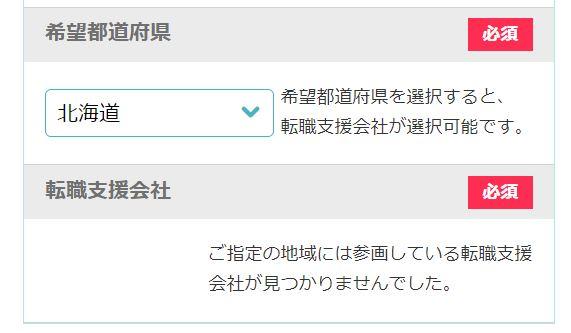 日経DIキャリア おまかせ問い合わせ例
