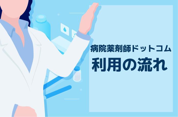 病院薬剤師ドットコムの登録から応募までの全4ステップ
