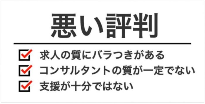 日経DIキャリアの悪い評判