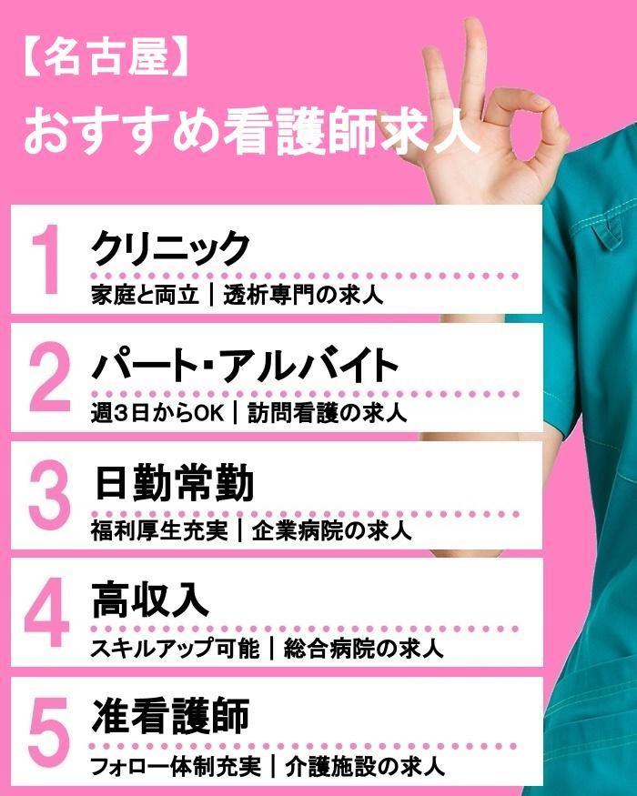 名古屋で人気の職場はどこ?おすすめ看護師求人をチェック