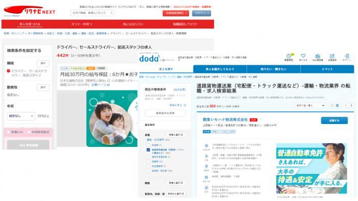 リクナビNEXT・doda