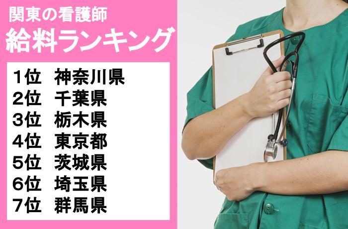 5.群馬の年収は低い?関東の看護師給料ランキング!