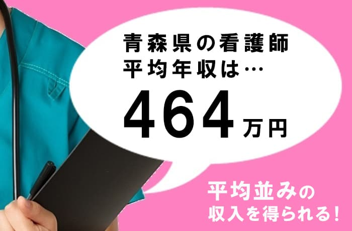 青森県の看護師の平均年収